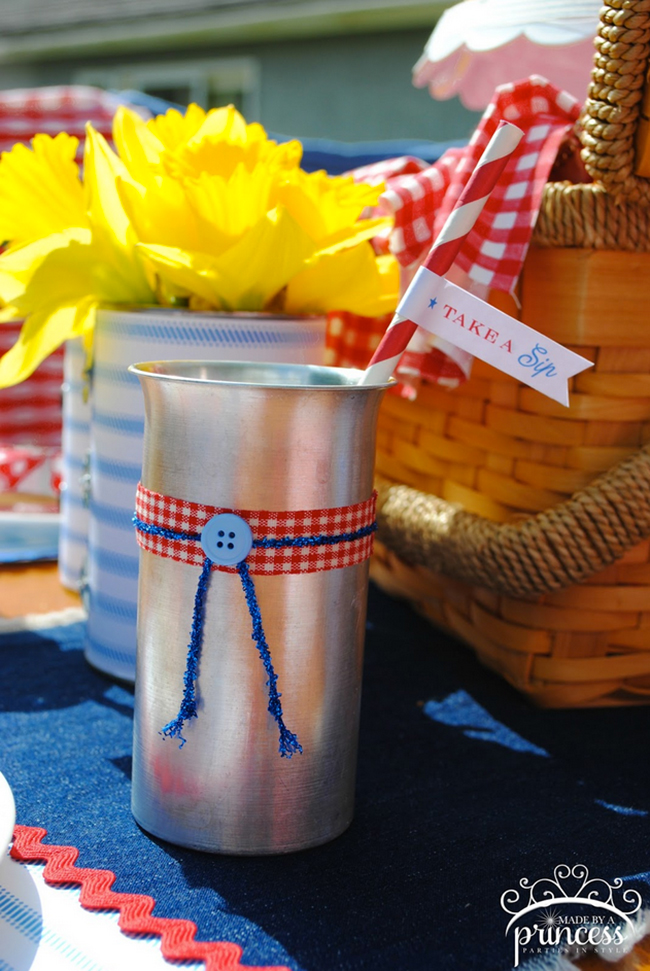 A Patriotic Picnic! Styled by Made By A Princess with a printable kit from Chickabug