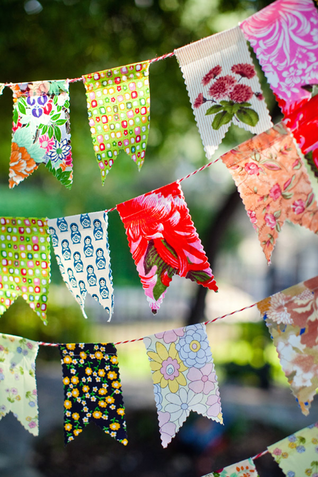Cute DIY fabric party banner