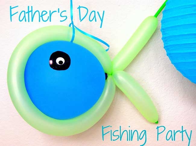 Father's Day fishing party balloons
