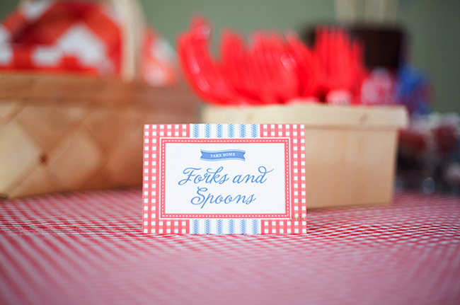 Utensils for a 4th of July party - printables from Chickabug