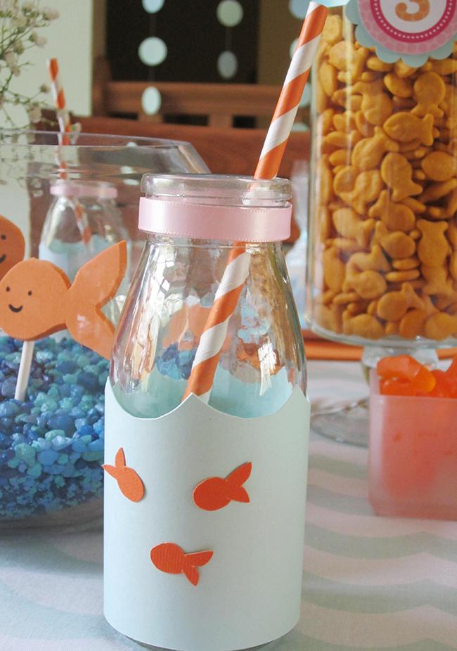 Adorable goldfish drink bottles