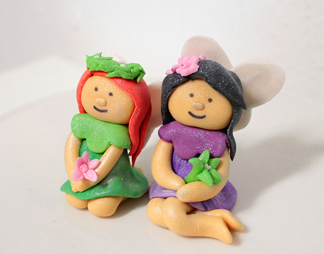 Fondant fairy cake toppers by Sugar and Stripes Co.