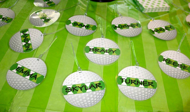 Golf ball tags