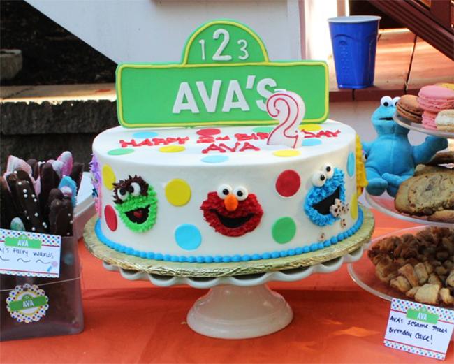 Cute Sesame Street birthday cake