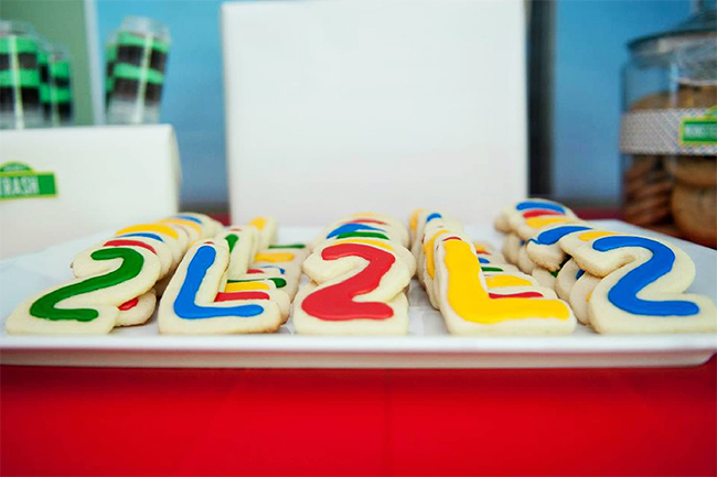 Sesame Street birthday party - Cookies