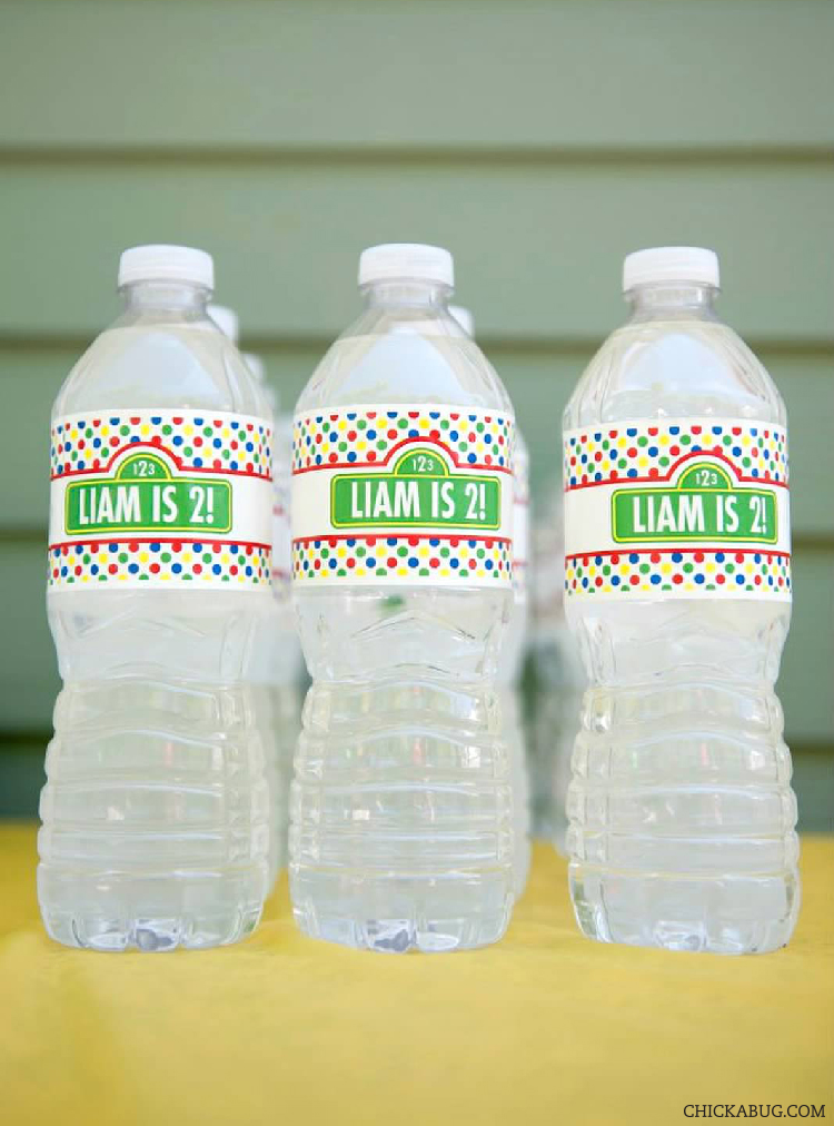 Sesame Street water bottle labels from Chickabug.com #chickabug