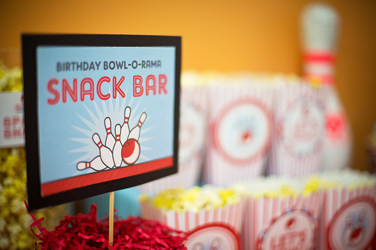 Bowling birthday party - printables from Chickabug