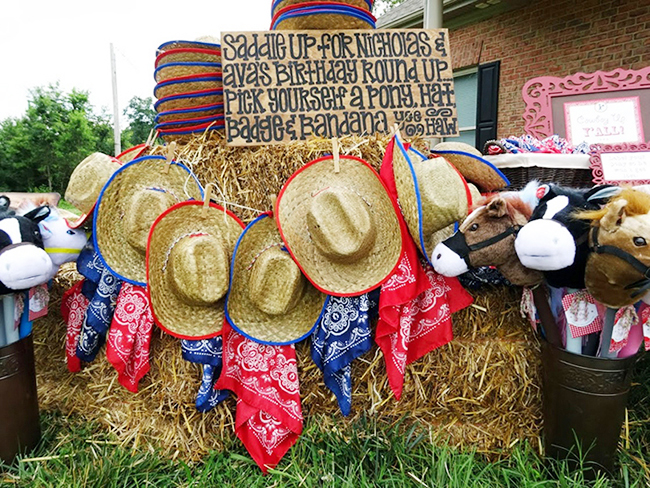 Country-western birthday party - so many great ideas!