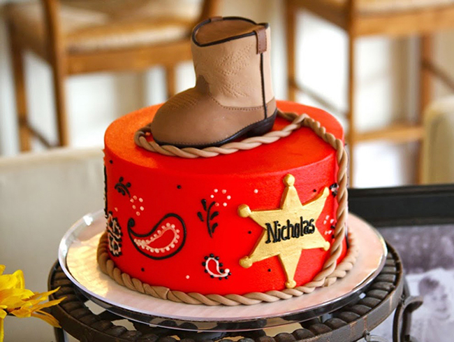 Country-western birthday cake - adorable!!