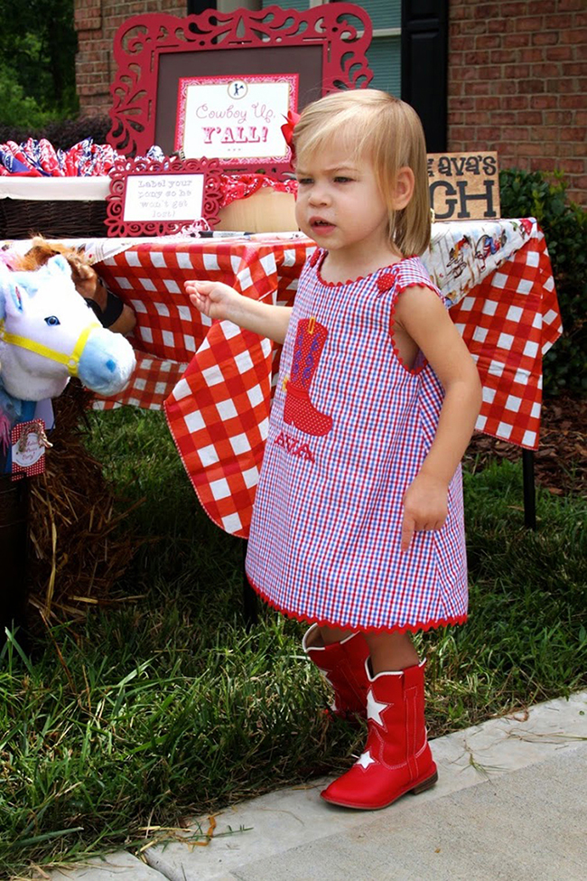 Cute country-western birthday party dress!