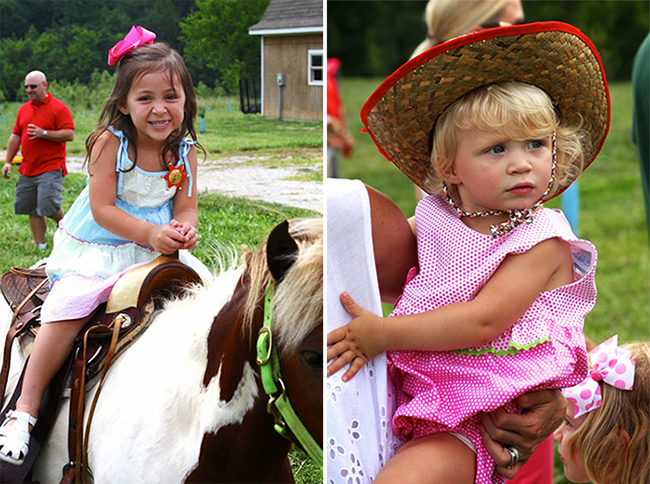 Country-western birthday party - pony rides!
