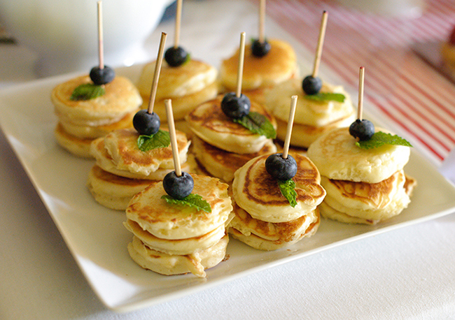 """London Calling"" 2nd birthday party and brunch - pancakes on a stick!"