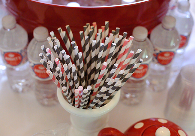 """London Calling"" 2nd birthday party - paper straws"