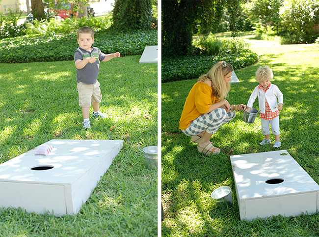 """London Calling"" 2nd birthday party - beanbag toss"
