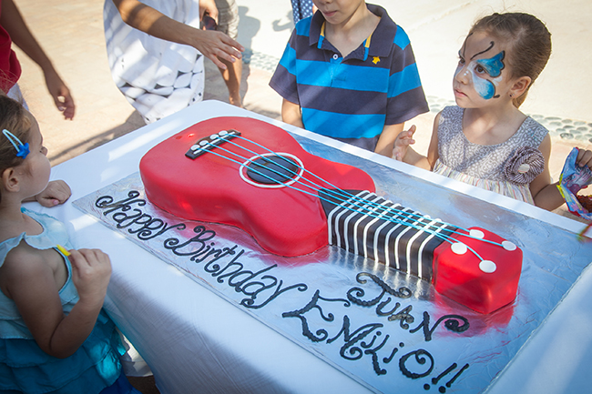 Rock star theme birthday cake
