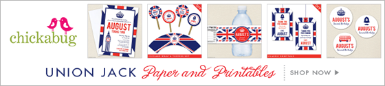 Chickabug Union Jack Theme Paper Goods & Printables