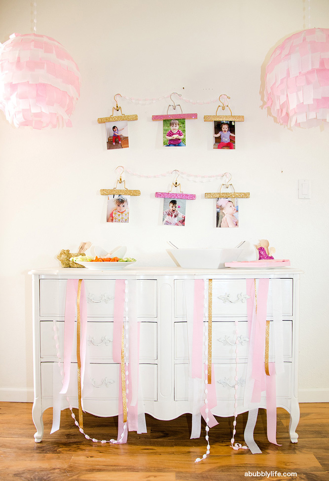 Dress-up theme birthday party - so sweet for a little girl!