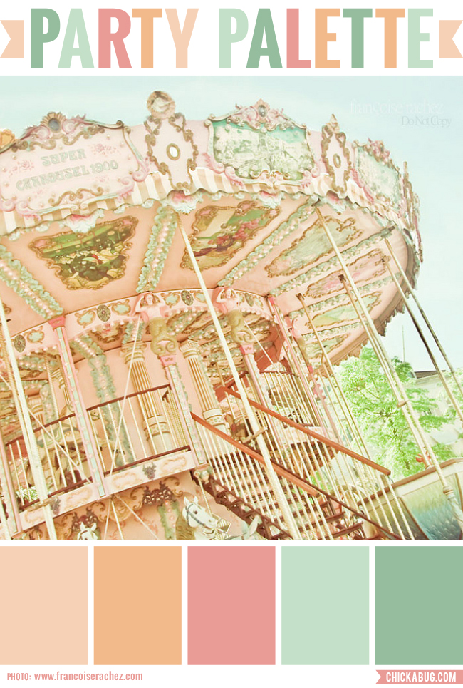 Party Palette: Color inspiration in peach, rose and mint
