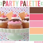 Party palette: Color inspiration in sherbet tones and chocolate brown