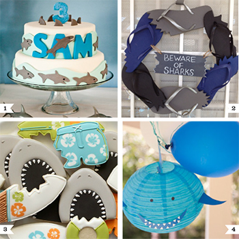 Shark party ideas for a birthday party or shark week! #sharkparty #sharkweek