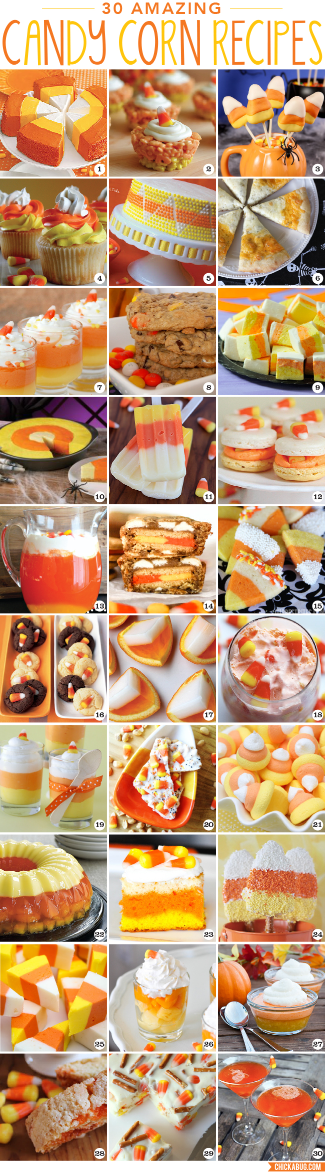 30 amazing candy corn recipes for Halloween!