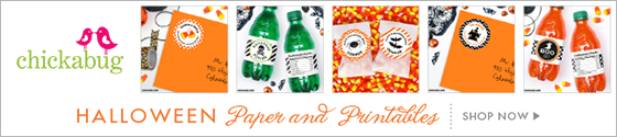 Chickabug Halloween party theme paper goods & printables