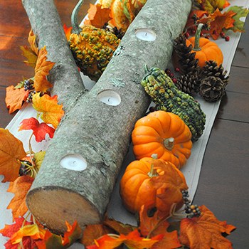 DIY fall branch centerpiece