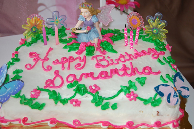 Garden fairy theme birthday cake
