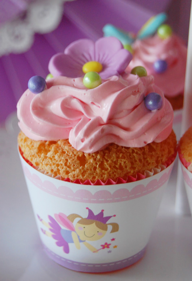 Garden fairy theme cupcake wrappers from Chickabug
