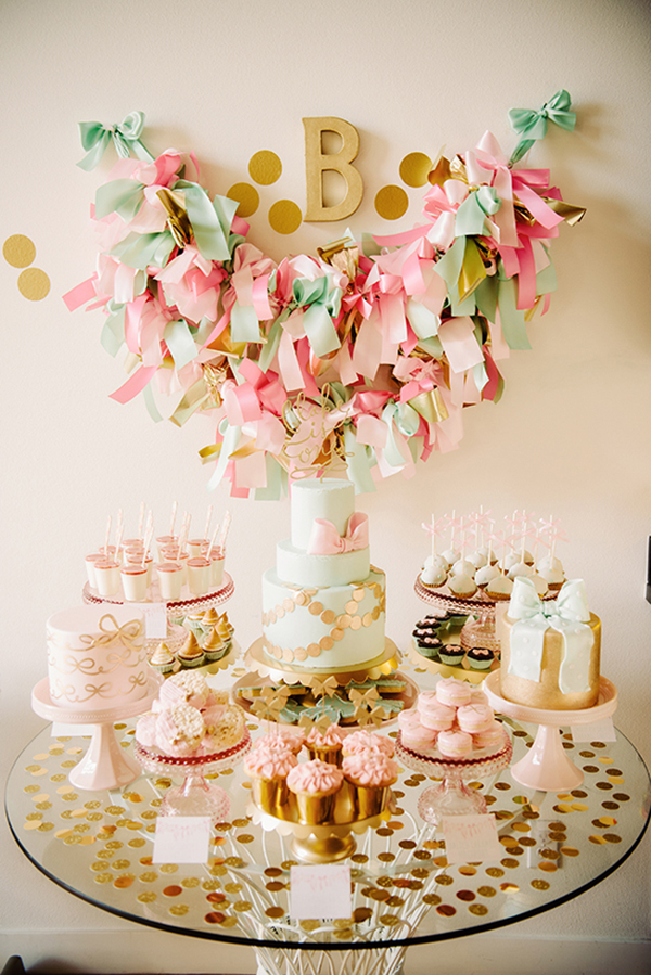 Gold and girlie birthday party