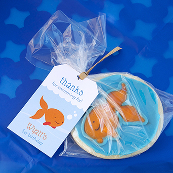 Goldfish theme first birthday party