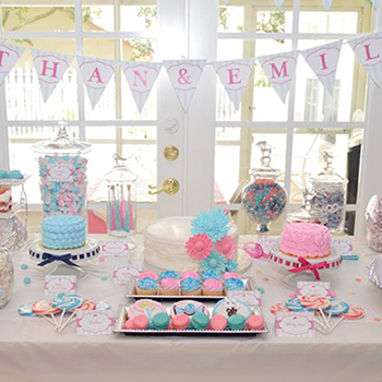 Lollipop theme birthday party for boy & girl twins