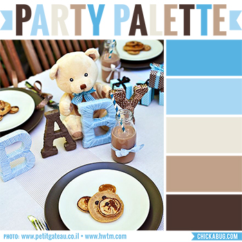 party palette teddy bear baby shower chickabug
