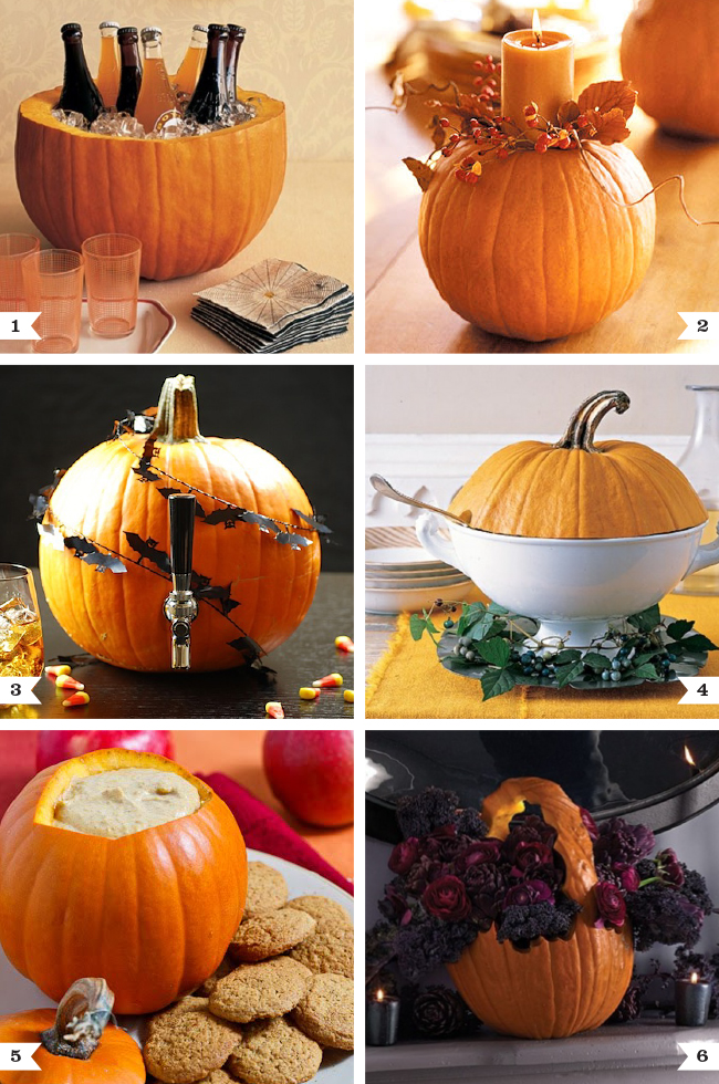6 great ways to use pumpkins at parties #halloween #partyideas