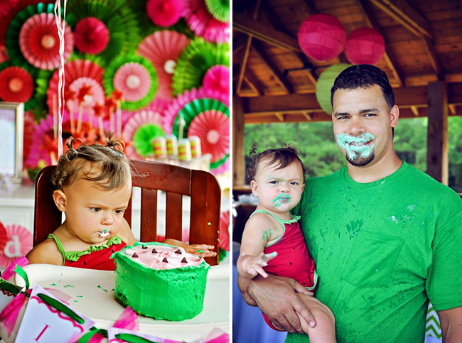 Watermelon theme birthday party