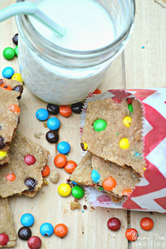 M&M's cookie brittle - the taste of a cookie with the crunch of a brittle!