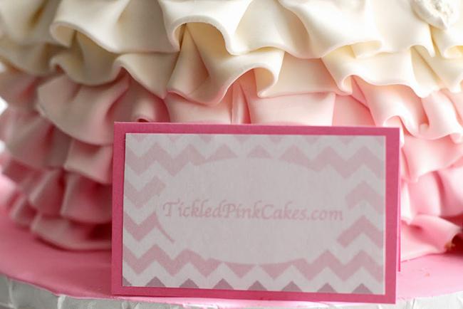 Spa theme birthday party - cake by www.TickledPinkCakes.com