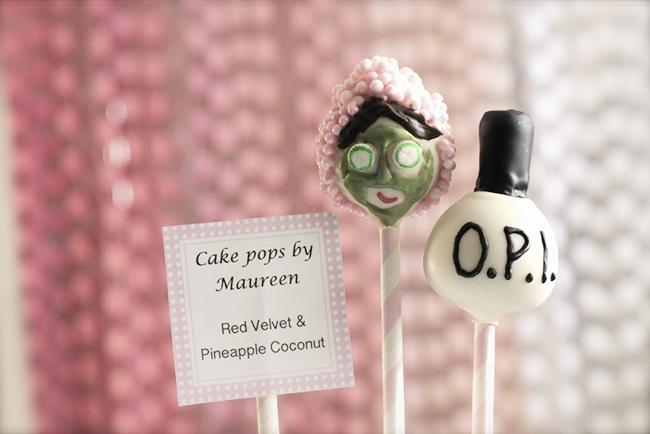 Spa theme cake pops - so cute!!