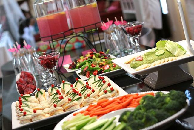 Spa theme birthday party food ideas