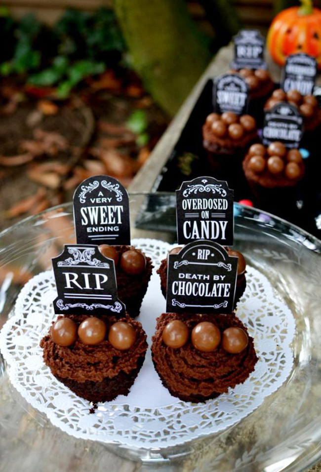 Death by chocolate cupcakes recipe (with FREE printables!)