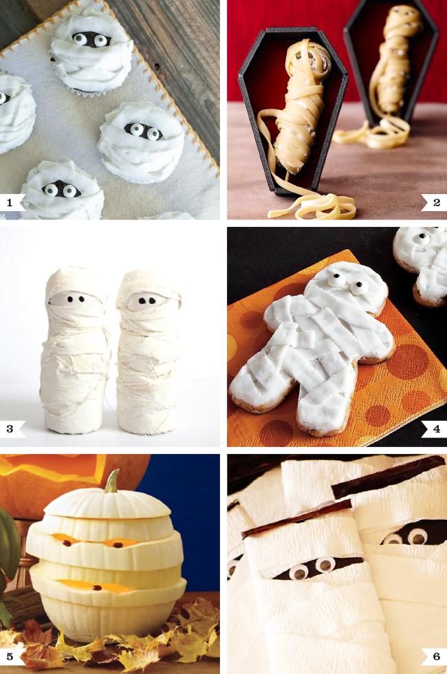 Mummy dessert and decor ideas for Halloween