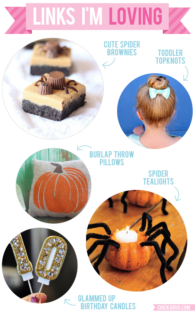 Links I'm Loving: Cute spider brownies, toddler topknots and more!