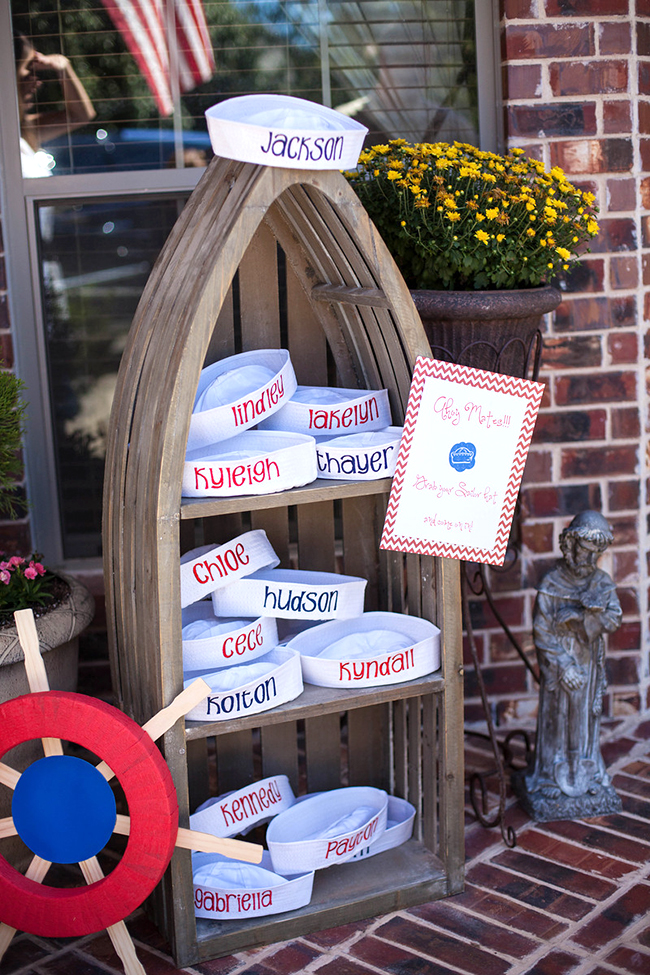 Adorable nautical theme first birthday party