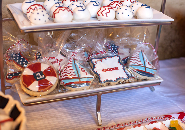 Nautical theme birthday party foods