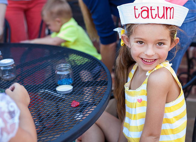 Nautical theme birthday party - personalized sailor party hats