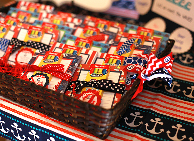 Nautical theme birthday party favors