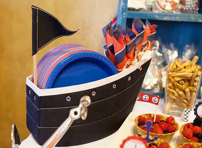Nautical theme birthday party supplies