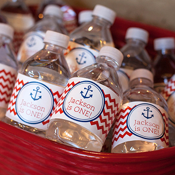 Nautical theme first birthday party