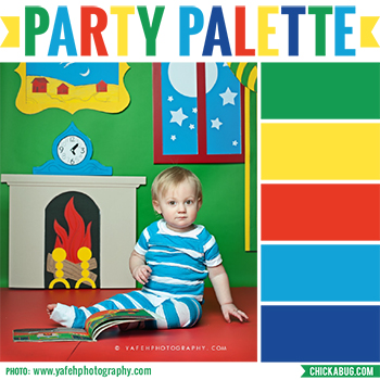 Party palette: Color inspiration for a Goodnight Moon party #colorpalette