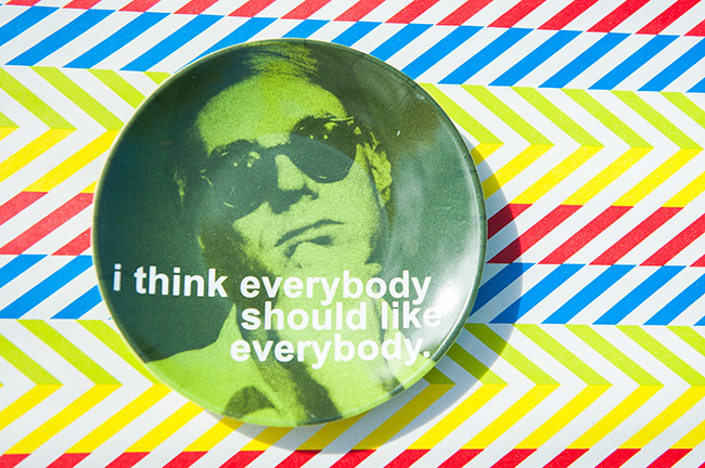 Pop art theme birthday party - Custom Andy Warhol portrait plates